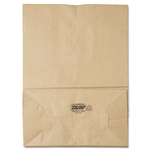 General 1-6 Bbl Paper Grocery Bag, 75lb Kraft, Standard 12 X 7 X 17, 400 Bags-General-Omni Supply