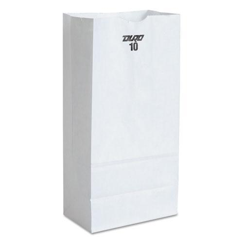 General #10 Paper Grocery Bag, 35lb White, Standard 6 5-16 X 4 3-16 X 13 3-8, 500 Bags-General-Omni Supply
