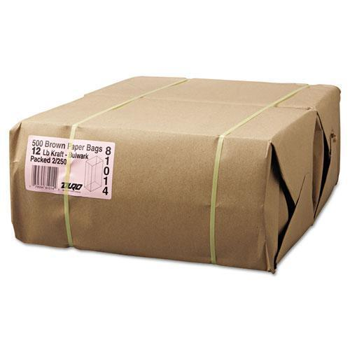 General #12 Paper Grocery, 57lb Kraft, Extra-Heavy-Duty 7 1-16x4 1-2 X13 3-4, 500 Bags-General-Omni Supply
