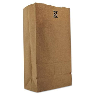 General #20 Paper Grocery, 57lb Kraft, Extra Heavy-Duty 8 1-4x5 5-16 X16 1-8, 500 Bags-General-Omni Supply