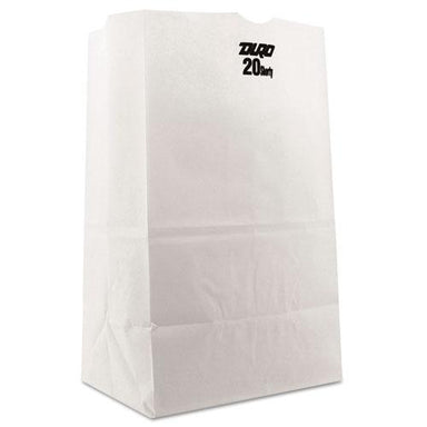 General #20 Squat Paper Grocery Bag, 40lb White, Std 8 1-4 X 5 15-16 X 13 3-8, 500 Bags-General-Omni Supply