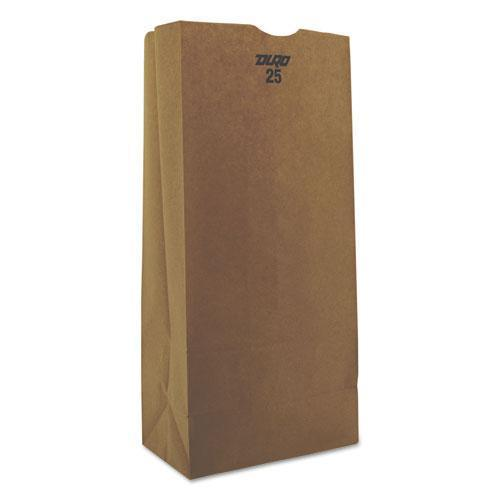 General #25 Paper Grocery Bag, 40lb Kraft, Standard 8 1-4 X 5 1-4 X 18, 500 Bags-General-Omni Supply