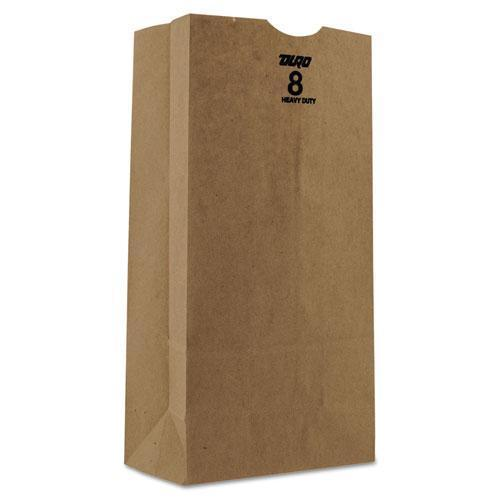 General #8 Paper Grocery Bag, 50lb Kraft, Heavy-Duty 6 1-8 X 4 1-8 X 12 7-16, 500 Bags-General-Omni Supply