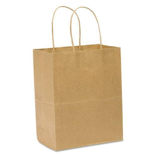 General Paper Shopping Bag, 60lb Kraft, Heavy-Duty 8 X 4 1-2 X 10 1-4, 250 Bags-General-Omni Supply