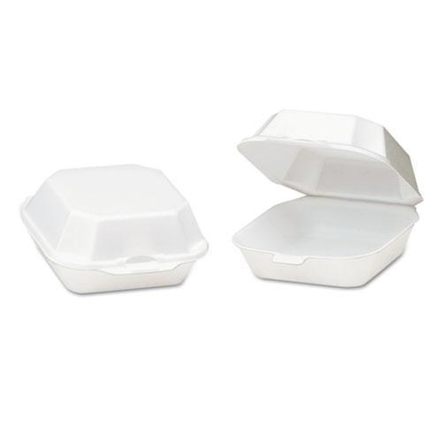 Genpak Foam Hinged Container, Sandwich, 5-1-8x5-1-3x2-3-4, White, 125-bag, 4 Bags-ct-Genpak®-Omni Supply