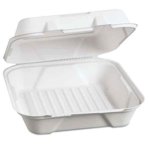 Genpak Harvest Fiber Hinged Containers, 9 X 9 X 3, 100-pk, 2 Pk-ct-Genpak®-Omni Supply