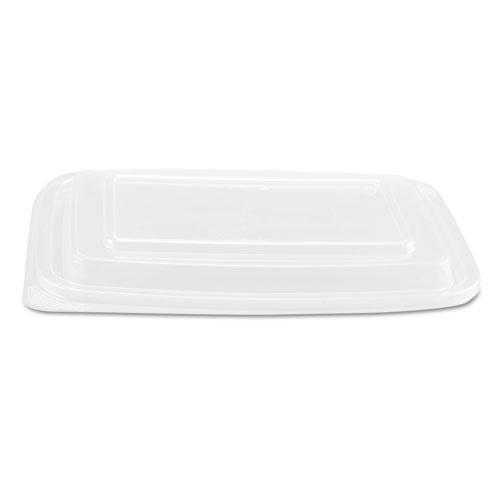 Genpak Microwave Safe Container Lid, Plastic, Fits 24-32 Oz, Rectangular, Clear, 75-bag-Genpak®-Omni Supply