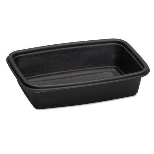 Genpak Microwave-Safe Containers,32 Oz, Plastic, Black, 8-3-4x6-1-8x2, 75-bag-Genpak®-Omni Supply
