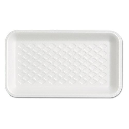 Genpak Supermarket Tray, Foam, White, 8-1-4x4-3-4x5-8, 125-bag-Genpak®-Omni Supply