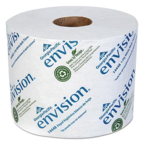 GeorgiaPac Envision High-Capacity Standard Bath Tissue, 1-Ply, White, 1500-roll, 48-carton-Georgia Pacific® Professional-Omni Supply