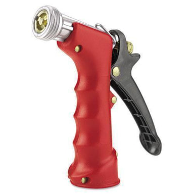 Gilmour Insulated Grip Nozzle, Pistol-Grip, Zinc-brass-rubber, Red-Gilmour®-Omni Supply