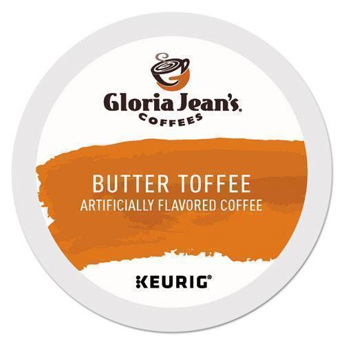 GlorJeans Butter Toffee Coffee K-Cups, 96-carton-Gloria Jean's®-Omni Supply