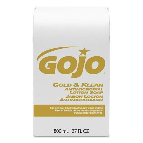 GOJO Gold And Klean Lotion Soap Bag-In-Box Dispenser Refill, Floral Balsam, 800ml-GOJO®-Omni Supply