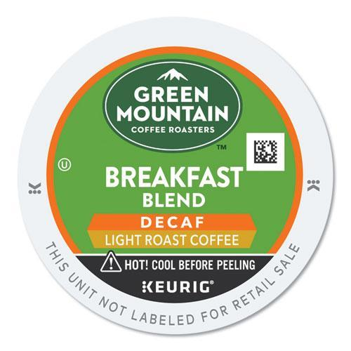 GreenMtn Breakfast Blend Decaf Coffee K-Cups, 24-box-Green Mountain Coffee®-Omni Supply
