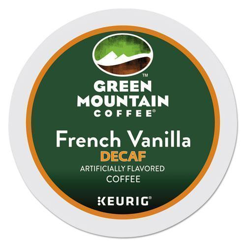 GreenMtn French Vanilla Decaf Coffee K-Cups, 24-box-Green Mountain Coffee®-Omni Supply