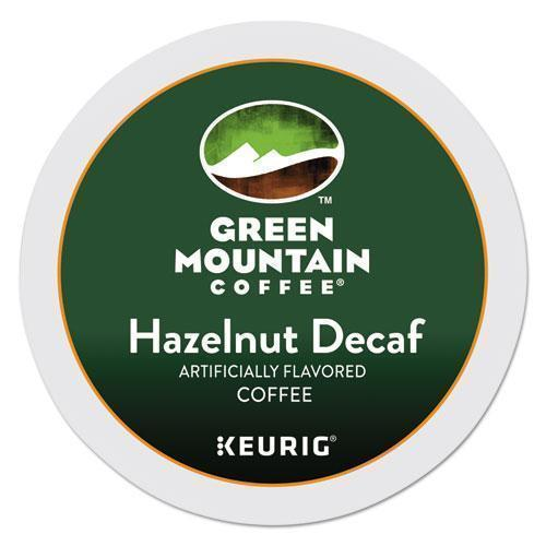 GreenMtn Hazelnut Decaf Coffee K-Cups, 96-carton-Green Mountain Coffee®-Omni Supply