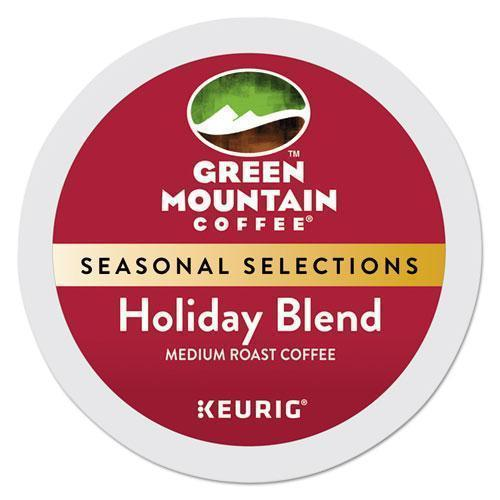 GreenMtn Holiday Blend K-Cups, Medium Roast, 24-box-Green Mountain Coffee®-Omni Supply
