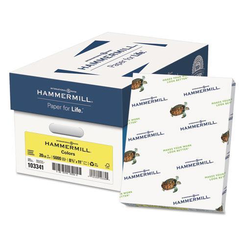 Hammermill RECYCLED COLORS PAPER, 20LB, 8-1-2 X 11, CANARY, 500 SHEETS-REAM-Hammermill®-Omni Supply
