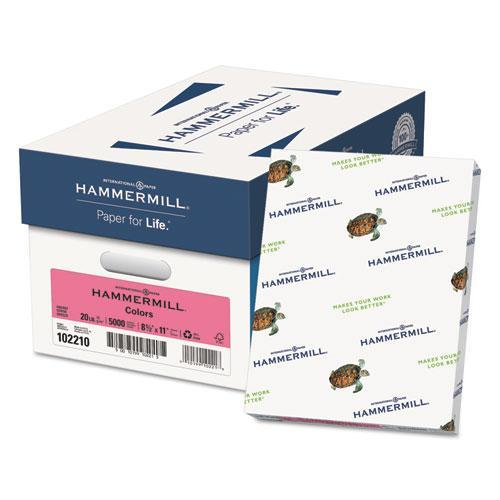 Hammermill RECYCLED COLORS PAPER, 20LB, 8-1-2 X 11, CHERRY, 500 SHEETS-REAM-Hammermill®-Omni Supply