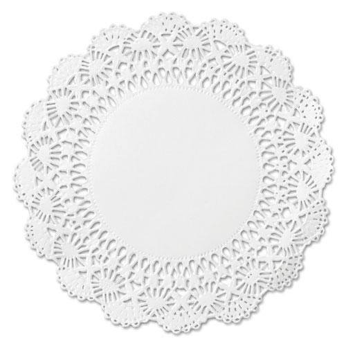 "Hoffmaster Cambridge Lace Doilies, Round, 12"", White, 1000-carton-Hoffmaster®-Omni Supply"