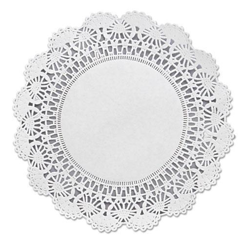 "Hoffmaster Cambridge Lace Doilies, Round, 8"", White, 1000-carton-Hoffmaster®-Omni Supply"