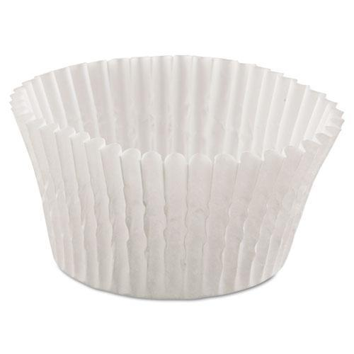 Hoffmaster Fluted Bake Cups, 4 1-2 Dia X 1 1-4h, White, 500-pack, 20 Pack-carton-Hoffmaster®-Omni Supply