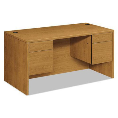 HON 10500 Series 3-4-Height Double Pedestal Desk, 60w X 30d X 29-1-2h, Harvest-HON®-Omni Supply