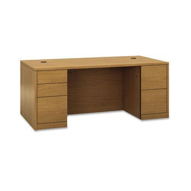 HON 10500 Series Double Pedestal Desk, Full-Height Pedestals, 72w X 36d, Harvest-HON®-Omni Supply