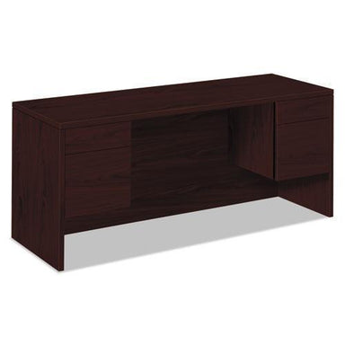 HON 10500 Series Kneespace Credenza With 3-4-Height Pedestals, 60w X 24d, Mahogany-HON®-Omni Supply