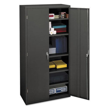 HON Assembled Storage Cabinet, 36w X 18-1-4d X 71-3-4h, Charcoal-HON®-Omni Supply