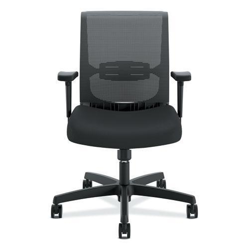HON CONVERGENCE SWIVEL-TILT CHAIR, ADJUSTABLE ARMS, BLACK-HON®-Omni Supply