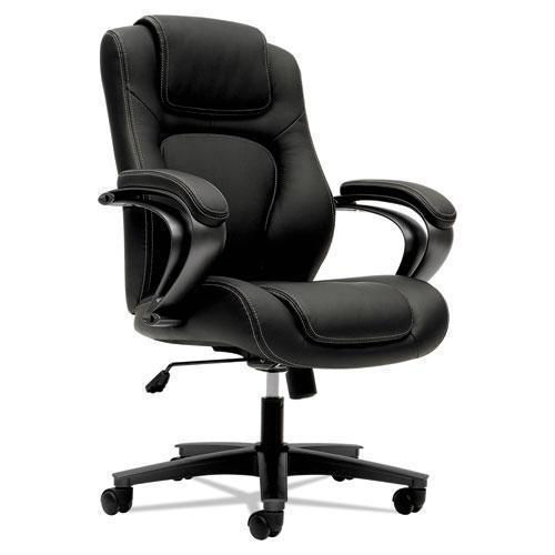HON HVL402 SERIES EXECUTIVE HIGH-BACK CHAIR, BLACK VINYL-HON®-Omni Supply
