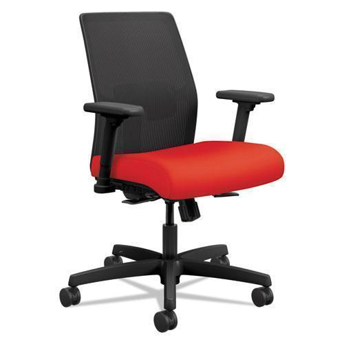 HON Ignition 2.0 Ilira-Stretch Low-Back Mesh Task Chair, Ruby Fabric Upholstery-HON®-Omni Supply