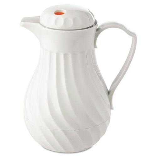 Hormel Poly Lined Carafe, Swirl Design, 40oz Capacity, White-Hormel-Omni Supply