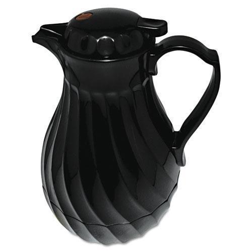 Hormel Poly Lined Carafe, Swirl Design, 64oz Capacity, Black-Hormel-Omni Supply
