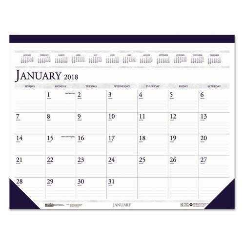 House of Doolittle; 100% Recycled Two-Color Dated Monthly Desk Pad Calendar-House of Doolittle-Omni Supply