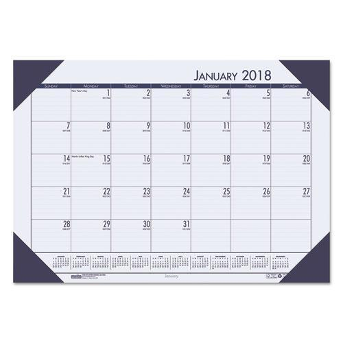 House of Doolittle; EcoTones; 100% Recycled Monthly Desk Pad Calendar-House of Doolittle™-Omni Supply