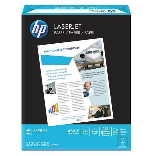 HP PREMIUM24 PAPER, 98 BRIGHT, 24LB, 8-1-2 X 11, ULTRA WHITE, 500 SHEETS-REAM-HP Papers-Omni Supply