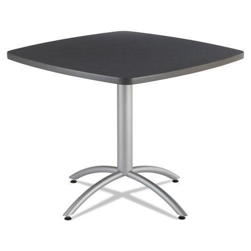 Iceberg Cafeworks Table, 36w X 36d X 30h, Graphite Granite-silver-Iceberg-Omni Supply