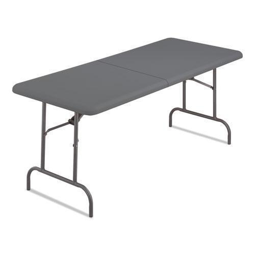 Iceberg INDESTRUCTABLES TOO 1200 SERIES BI-FOLD TABLE, 60W X 30D X 29H, CHARCOAL-Iceberg-Omni Supply