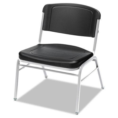Iceberg Rough N Ready Series Big & Tall Stackable Chair, Black-silver, 4-carton-Iceberg-Omni Supply