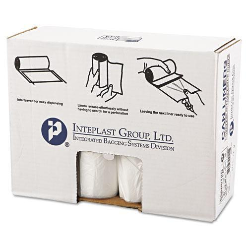 Inteplast High-Density Can Liner, 38 X 60, 60gal, 12mic, Clear, 25-roll, 8 Rolls-carton-Inteplast Group-Omni Supply