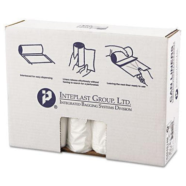 Inteplast High-Density Can Liner, 40 X 48, 45gal, 14mic, Clear, 25-roll, 10 Rolls-carton-Inteplast Group-Omni Supply