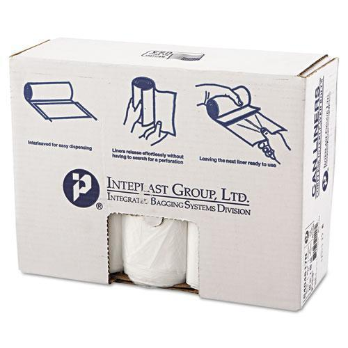 Inteplast High-Density Can Liner, 40 X 48, 45gal, 17mic, Clear, 25-roll, 10 Rolls-carton-Inteplast Group-Omni Supply