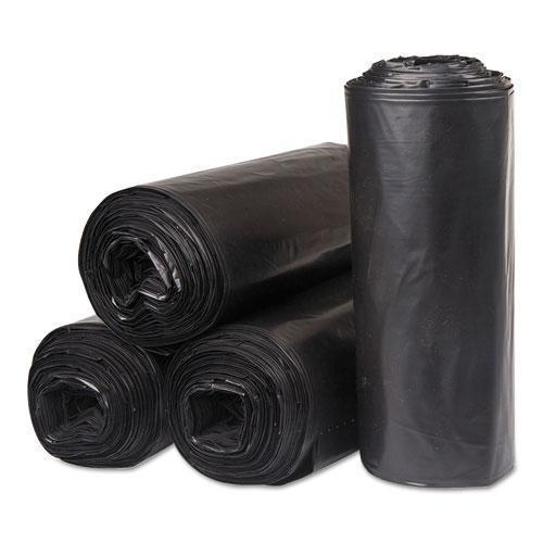 "Inteplast INSTITUTIONAL LOW-DENSITY CAN LINERS, 45 GAL, 40"" X 46"", BLACK, 250-RL, 10RL-CT-Inteplast Group-Omni Supply"