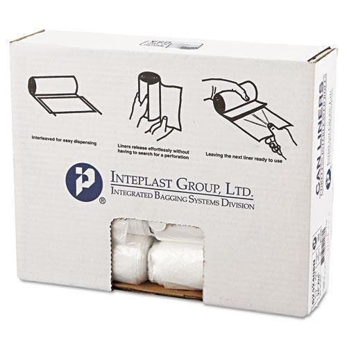 Inteplast Interleaved High-Density Can Liners, 24x24, 10gal, 8mic, Nl, 50-rl, 20 Rl-ct-Inteplast Group-Omni Supply