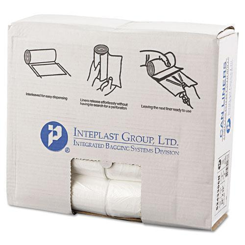 Inteplast Interleaved High-Density Can Liners, 24x33, 16gal, 6mic, Nl, 50-rl, 20 Rl-ct-Inteplast Group-Omni Supply
