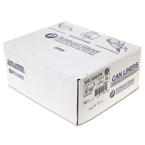 Inteplast Low-Density Can Liner, 30 X 36, 30gal, .90 Mil, Black, 25-roll, 8 Roll-carton-Inteplast Group-Omni Supply