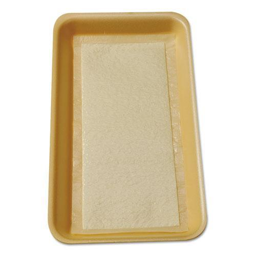 Internatnl Meat Tray Pads, 6w X 4 1-2d, White-yellow, 2000-carton-International Tray Pads-Omni Supply