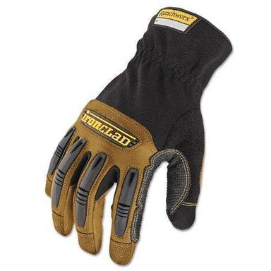 Ironclad Ranchworx Leather Gloves, Black-tan, Large-Ironclad-Omni Supply